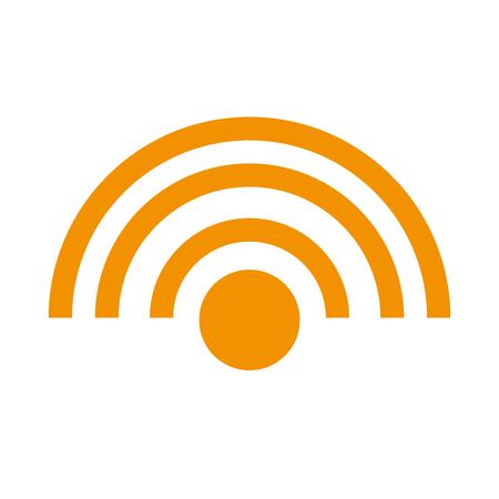 wifi 연결 격리 된 아이콘 벡터 일러스트 레이 션 디자인