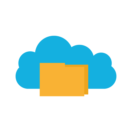 cloud computing with folder vector illustration design