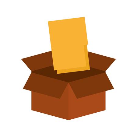 folder document in box vector illustration design Çizim