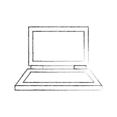 노트북 컴퓨터 격리 아이콘 벡터 일러스트 디자인 일러스트