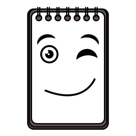 notebook school kawaii character vector illustration design 向量圖像