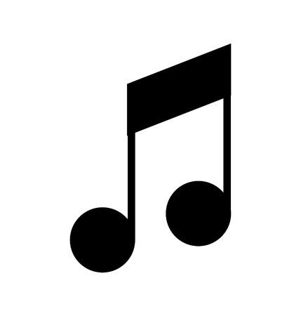 音符は、アイコン ベクトル イラスト デザインを分離しました。