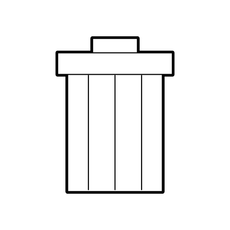 garbage pot isolated icon vector illustration design Stock Vector - 84593433