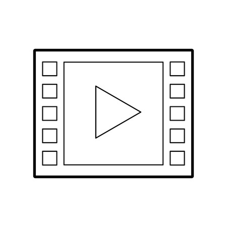 pause button: media player isolated icon vector illustration design