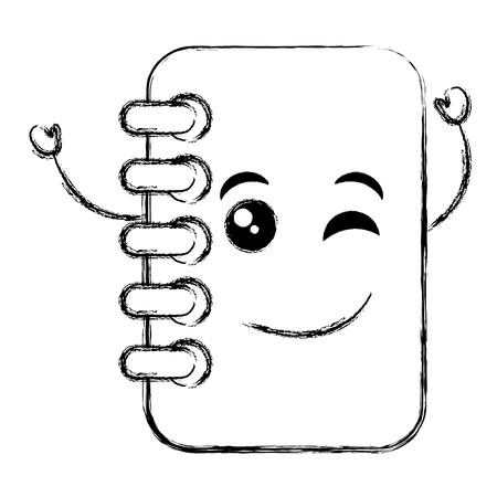 ノートブック学校カワイイ文字ベクトル イラスト デザイン