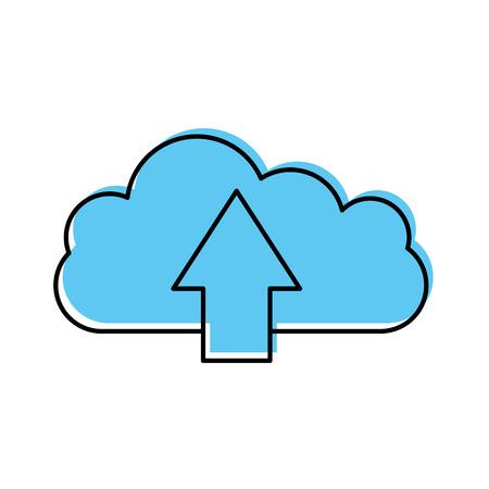 cloud computing with arrows vector illustration design Illustration