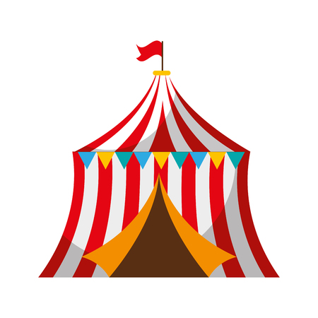 circus tent isolated icon vector illustration design Stock Illustratie