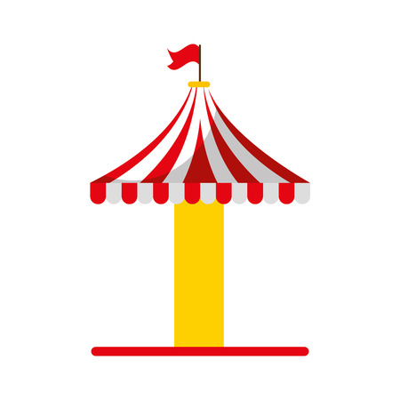 carousel tent isolated icon vector illustration design Иллюстрация