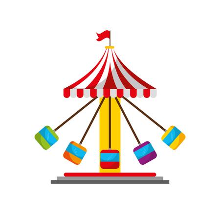 Diseño del ejemplo del vector del icono del juego del carnaval del huracán Foto de archivo - 84593537