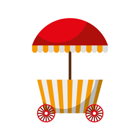 carnival fast food cart vector illustration design