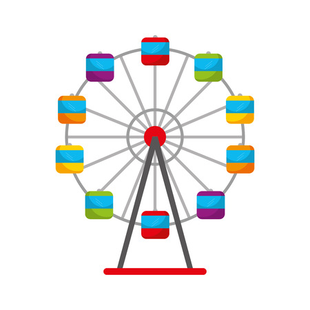 Panoramic wheel isolated icon vector illustration design