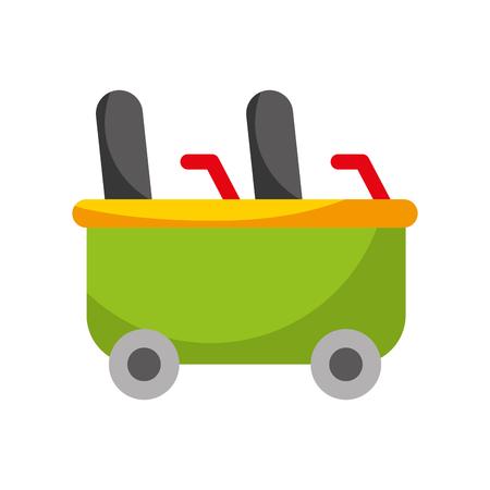 roller coaster wagon isolated icon vector illustration design Ilustrace