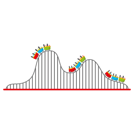 roller coaster isolated icon vector illustration design Иллюстрация