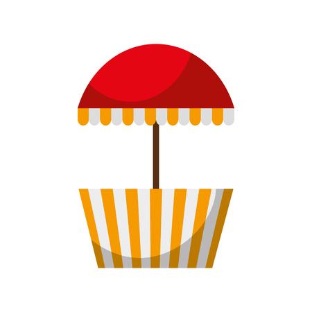 carnival fast food cart vector illustration design