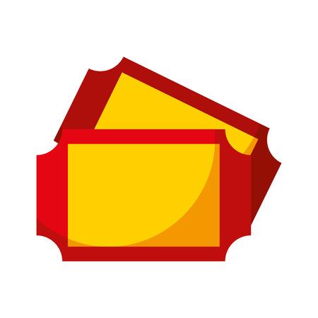 carnival tickets isolated icon vector illustration design Illustration