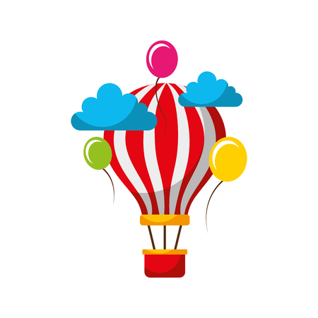 carnival balloon air flying vector illustration design