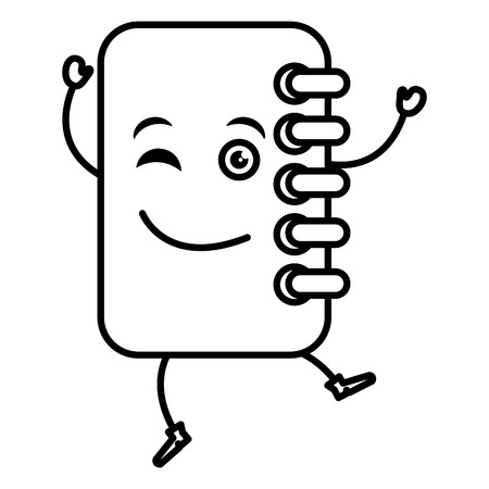 notebook school kawaii character vector illustration design Illustration