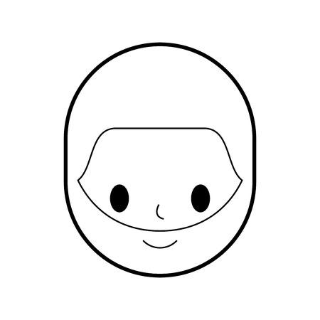 man avatar character icon vector illustration design Ilustrace