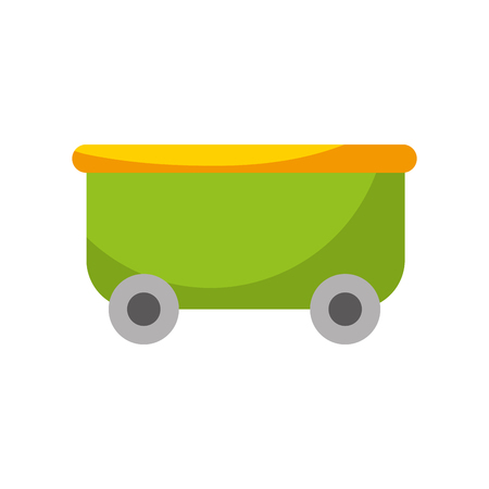 roller coaster wagon isolated icon vector illustration design Ilustração