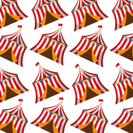 circustent geïsoleerd pictogram vectorillustratieontwerp Stock Illustratie