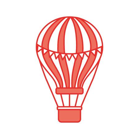 carnival balloon air flying vector illustration design Illusztráció