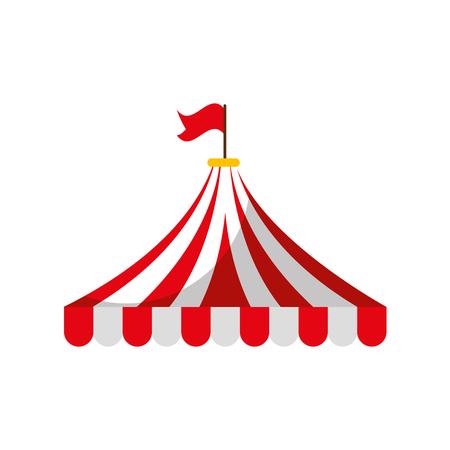 Tenda del circo isolato icona illustrazione vettoriale di design Archivio Fotografico - 84593627