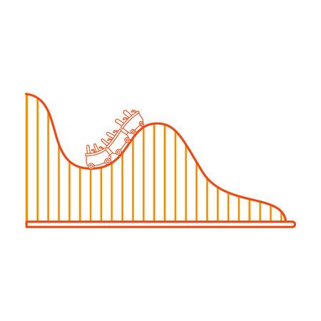 achtbaan geïsoleerd pictogram vector illustratieontwerp Stock Illustratie