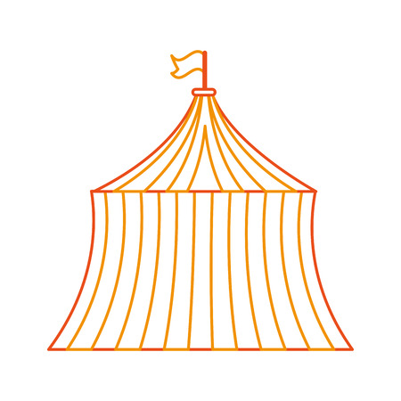 event party: circus tent isolated icon vector illustration design Illustration