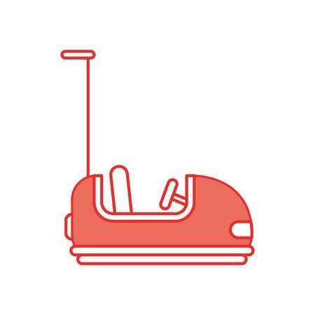 バンパー車カーニバル ゲーム ベクトル イラスト デザイン