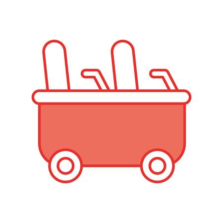 roller coaster wagon isolated icon vector illustration design Illusztráció