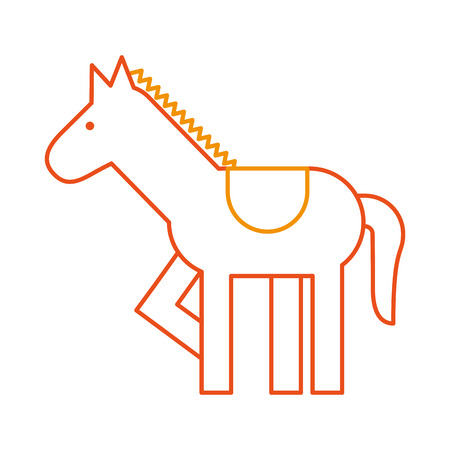 carousel horse isolated icon vector illustration design Illustration