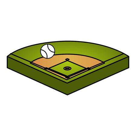 baseball diamond isolated icon vector illustration design Stock Vector - 84593666