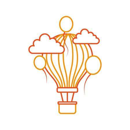 carnival balloon air flying vector illustration design Ilustração