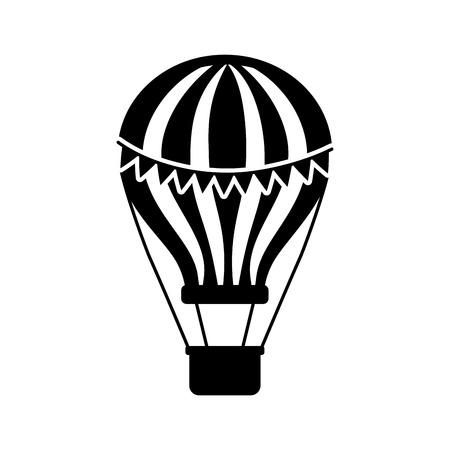 carnival balloon air flying vector illustration design Illustration