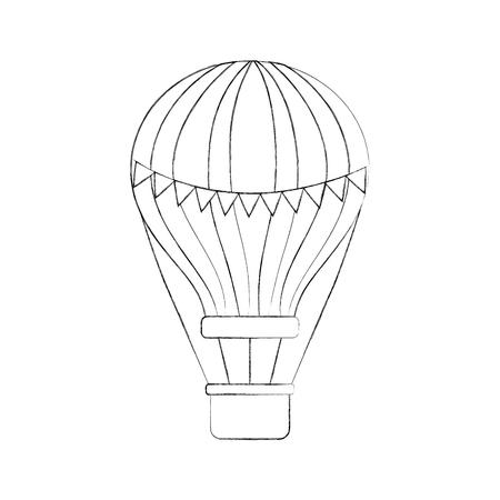 diseño del ejemplo del vector del vuelo del aire del globo del carnaval Ilustración de vector