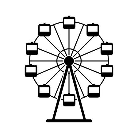 파노라마 휠 격리 아이콘 벡터 일러스트 디자인 일러스트