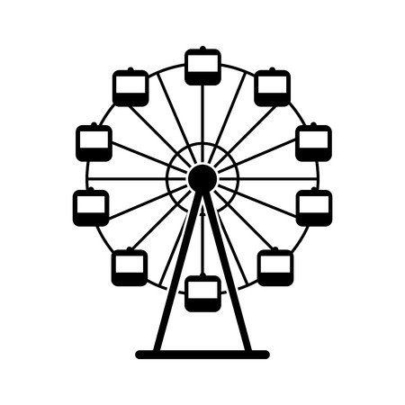 Panoramic wheel isolated icon vector illustration design Reklamní fotografie - 84594758