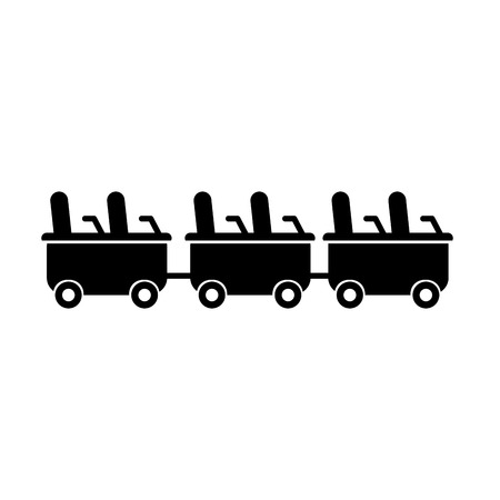 roller coaster wagons isolated icon vector illustration design