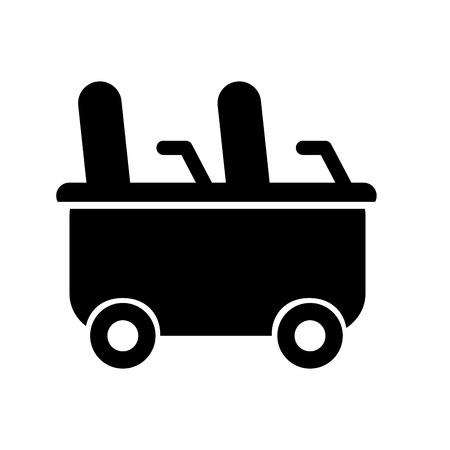 コースター ワゴン分離アイコン ベクトル イラスト デザイン  イラスト・ベクター素材