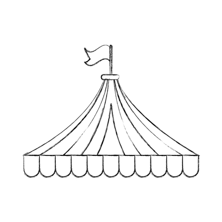 circus tent isolated icon vector illustration design Illustration
