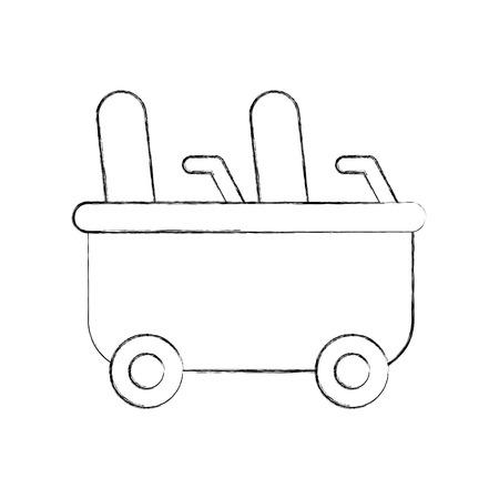 roller coaster wagon isolated icon vector illustration design Çizim