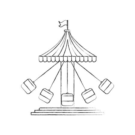 Diseño del ejemplo del vector del icono del juego del carnaval del huracán Foto de archivo - 84594745