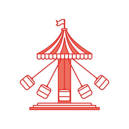 Diseño del ejemplo del vector del icono del juego del carnaval del huracán Foto de archivo - 84594726