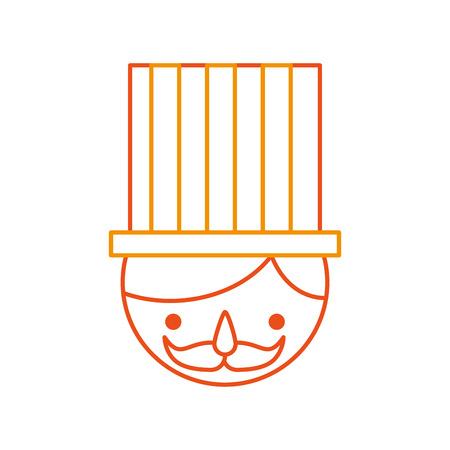 carnival worker avatar character vector illustration design