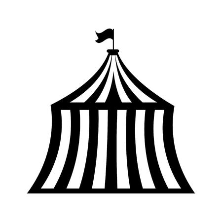 circus tent isolated icon vector illustration design Ilustração Vetorial