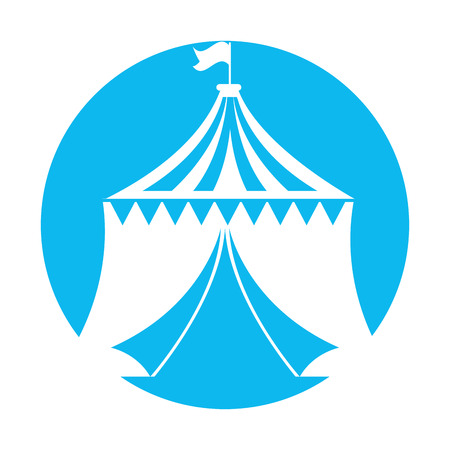 circus tent isolated icon vector illustration design 向量圖像