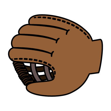 baseball glove isolated icon vector illustration design