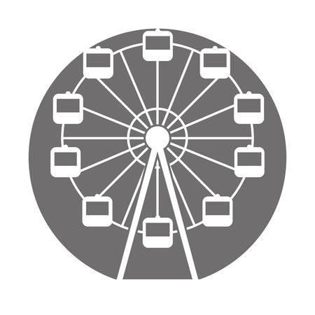 Panoramic wheel isolated icon vector illustration design Stock Vector - 84594712