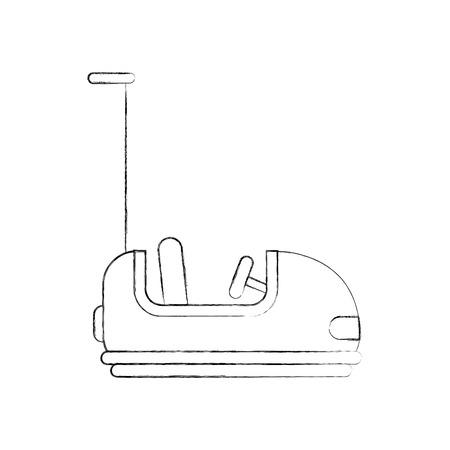 Coches de parachoques carnaval juego ilustración vectorial diseño Foto de archivo - 84594674
