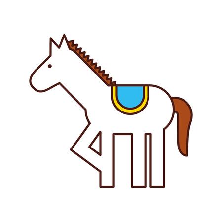 carousel horse isolated icon vector illustration design Illustration